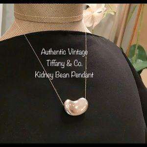 Authentic Vintage Tiffany & Co Kidney Bean Pendant